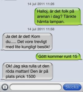 SMS som är så fint!